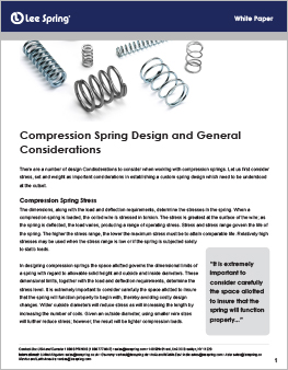 compression spring design considerations